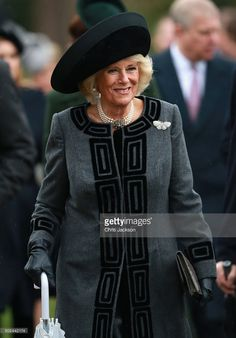 Camilla, Duchess of Cornwall attends a Christmas Day church service at Sandringham on December 25, 2015 in King's Lynn, England.  (Photo by Chris Jackson/Getty Images)