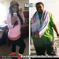 April lost 91 pounds. Read her story   Black Weight Loss Success