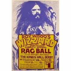 Roy Wood at Kings Hall, Derby '73