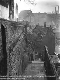 Picture the Past Nottingham Caves, Nottingham City, Social Realism, City Scapes, Industrial Architecture, December 17, History Photos, Steam Punk, Family History