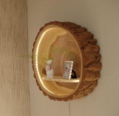 This Tree Trunk Wood Lamp Would Be Great For A Kid's Room!  #shims #woodshims #nelsonwoodshims >> Nelson Wood Shims