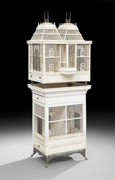 Fanciful Victorian Polychrome Tiered Birdcage, late 19th century