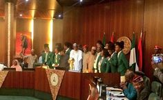 President Buhari Receives New African Champions DTigress In Abuja (Photos)