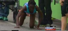 Kenyan marathoner crawls across Austin Marathon finish line to nab third place Marathon Runners, Finish Line, Above And Beyond, Black People, Racing, Weather, My Love, News, Third