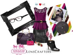 """Share Your Style with LensCrafters and Coach"" by charmedbystacy ❤ liked on Polyvore"