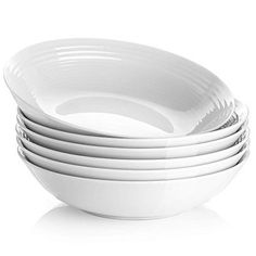 Y YHY 26 Ounces Porcelain Pasta Salad Bowls, White Soup Bowl Set, Wide and Shallow, Set of Spiral Pattern Classic Minestrone Soup Recipe, Vegetarian Minestrone Soup, Vegetarian Chili, Lentil Soup, Vegan Soups, Vegetarian Recipes, Healthy Recipes, Roasted Tomato Basil Soup, Roasted Tomatoes