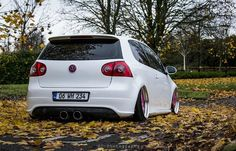 Lowlife White VW Golf