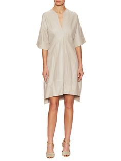 Sasha Leather Perforated Flared Dress   by Tory Burch at Gilt