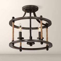Straits Hexagonal Design Bronze Lantern