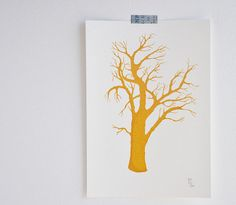 Ti Manels Tree - Gocco Screen Print