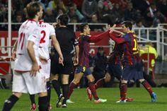 Las imágenes del Sevilla-FC Barcelona