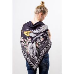 Givenchy Mermaid scarf - Scarf by Givenchy with mermaid and flowers. Materials: 60% cotton and 40% modal.