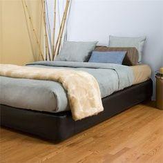 Howard Elliott Black Faux Leather Cover Full Platform Bedroom Set (Kit & Cover)