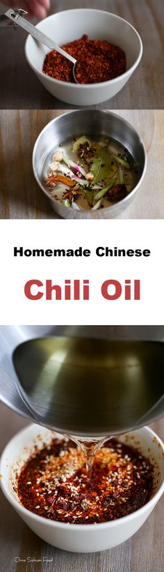 Homemade Chinese Chili Oil with strong flavor and bright red color.