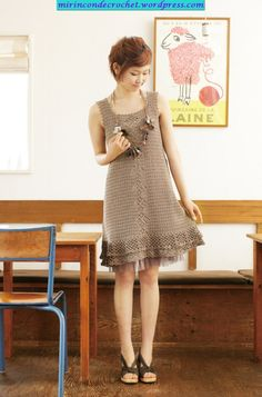 Un vestidito…sencillo y hermoso!!!! | Mi Rincon de Crochet - dress - free #crochet pattern