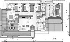 Projekt domu Madera II 132,2 m2 - koszt budowy - EXTRADOM Floor Plans, 3d, How To Plan, Wood, Floor Plan Drawing, House Floor Plans