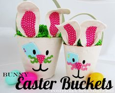 Canvas Easter Buckets