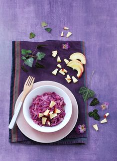 My Sweet Faery: Salade de chou rouge confit à la pomme - Soft red cabbage and apple salad