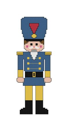 This nutcracker cross stitch pattern will give you a completed piece measuring approximately 2.4x6.6 inches (6.1x16.8 cm). It is 33x92