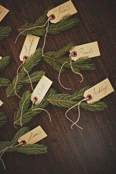 Recycle tree offcuts as place names @Derek Smith My Wedding #rockmywinterwedding