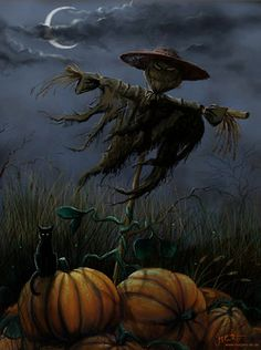 Scarecrows at Night.