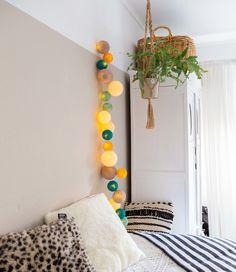Premium Lichtslinger - Ocean Green - Cotton Ball Lights