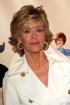 Jane Fonda. I love the hair cut and color!