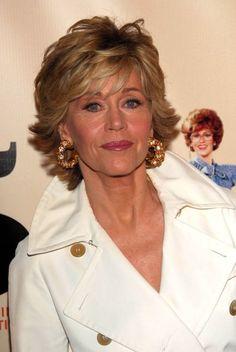Jane Fonda. I love the hair cut and color!