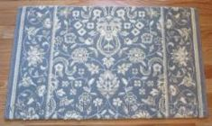 "Glamour Kashan Stair Runner Ocean 36"" Blue Ivory, Blue Grey, Patterned Stair Carpet, Carpet Stairs, Carpet Runner, Ocean, Glamour, Traditional, Color"