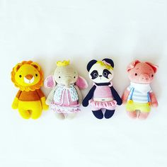 Amalou.Designs crochet Pattern Amigurumi lion elephant koalabear piglet Pattern