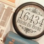 Reuse an old wall clock frame and diy an address sign.