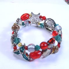 Antique vintage 1950s Christmas charm bracelet by jewelry715, $12.99