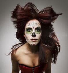 17 Amazing Día de los Muertos Sugar Skull Make-up Art
