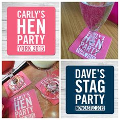 Personalised Hen/Stag Beer Mats | eBay