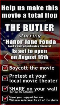 As boycott proceeds, 'The Butler' director acknowledges politicalactivism. / This is the movie Oprah is in. as well as Hanoi Jane/ BOYCOTT