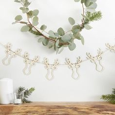 Wooden stag bunting - Rustic Christmas - Home Decor #ad #christmasgifts