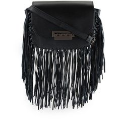 Zac Zac Posen Eartha Iconic Accordion Crossbody Bag (€350) ❤ liked on Polyvore featuring bags, handbags, shoulder bags, black fringe, leather cross body handbags, leather fringe purse, crossbody handbags, crossbody shoulder bag and fringe purse