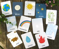 Earth And Friends Free Printable Flashcards | AllFreePaperCrafts.com