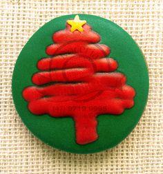 Bolachas decoradas - Pinheirinho de Natal @doceriadalilica