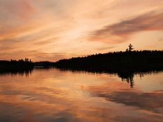 Sunset reflection, Lake Temagami Sunsets, Places Ive Been, Reflection, Sunrise, Canada, Celestial, Nature, Outdoor, Life