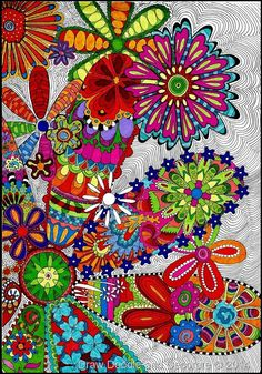 Draw Doodle and Decorate: Floral Fauna
