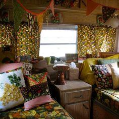 Nice pics of a realistic camper remodel.  Super cute! Attaches to original blog post!!!!!