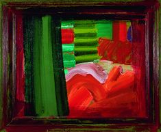 """Howard Hodgkin In Bed in Venice 1984 - 1988 38 ⅝ x 46 ⅞"""", Painting Oil on wood Abstract Painters, Abstract Art, Howard Hodgkin, Art For Art Sake, Abstract Expressionism, Art Blog, Contemporary Artists, Art Boards, Collages"""