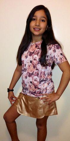 Look com T-Shirt, #tendência também entre as meninas! Na Ducalu há várias opções de Ts.
