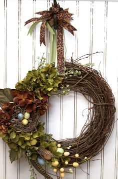spring wreath- go to site for classroom treat bags.  Super cute!