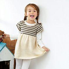 Momo Little Dress by Pierrot :: Top 10 Girls Summer Sweater Dress Patterns of 2014 :: 30 Day Sweater