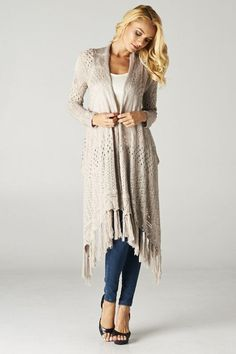 Open Knit Andrea Cardigan
