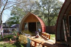 Arched Cabins, a growing company located in both Houston, Texas and Timberon, New Mexico have created these tiny arched cabins for a low pri...