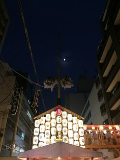 Light and moon - Gion Festival.