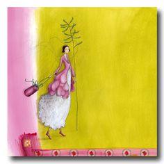 BOISSONNARD La veste de pétales Art Pictures, Art Images, Drawing Block, Grafic Art, Art Fantaisiste, Art Carte, Art Et Illustration, Art Moderne, Whimsical Art
